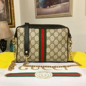 Gucci GG PATTERN Shoulder Bag 💼 Red/Green 🇮🇹